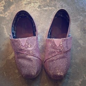 11T girls pink glitter Toms